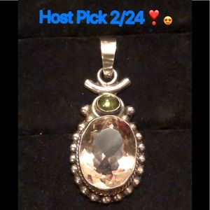 Jewelry - Sterling Silver/Smoky Quartz/Peridot Pendant
